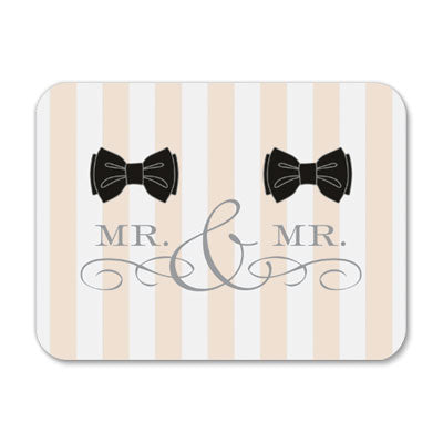 Mr. & Mr. Bowtie Wedding Card