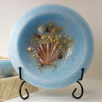 Seascape Wax Pottery Vessel - Non Burning Candle