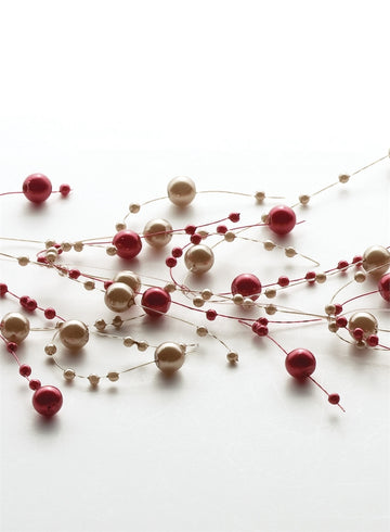 Bead Garland Red & Pearl Ball
