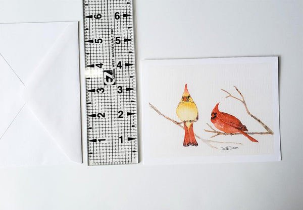 Two Cardinals Card
