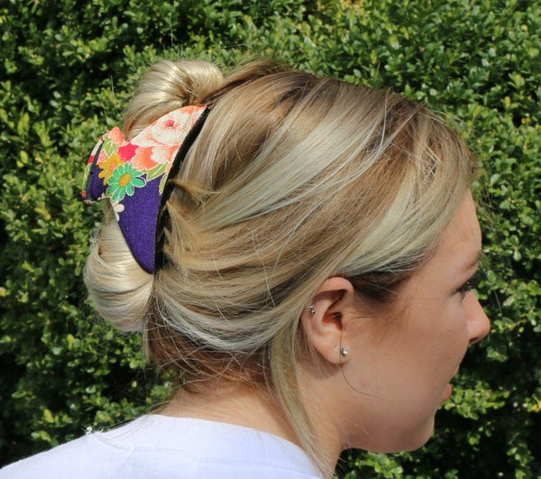 Extra Large Squeeze Kimono Hair Clip