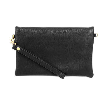 Crossbody Wristlet Clutch With 3 Zip Compartments