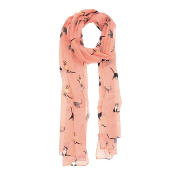 Cat Scarf - Dusty Pink