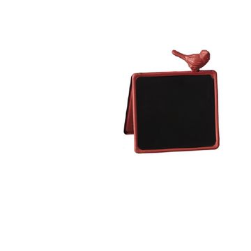 Red Double Sided Mini Chalkboard Sign with Bird