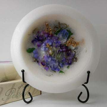 Lilac Blossom  Wax Pottery Vessel - Non Burning Candle