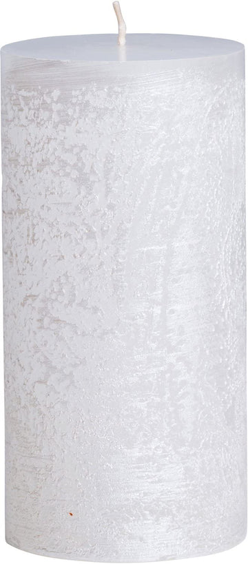White Pearl Pillar Candle