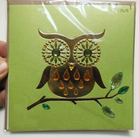 Green Owl Blank Card