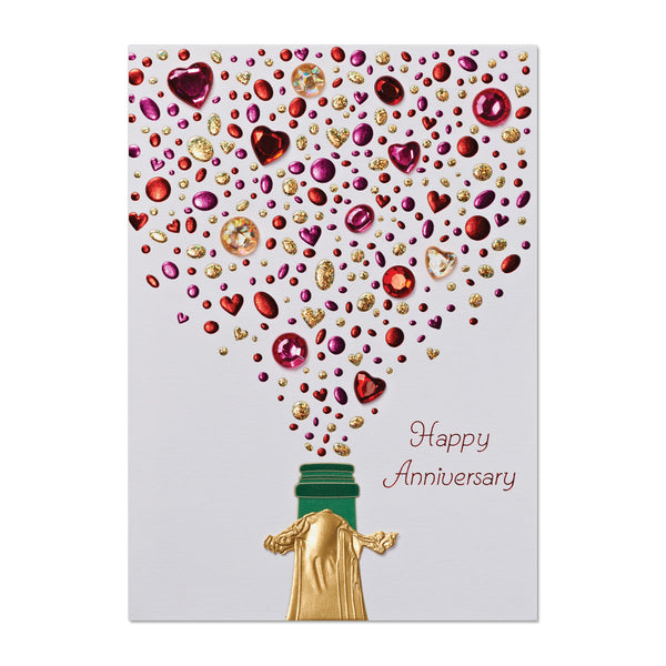 Champagne Jewels Anniversary Card