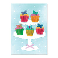 Butterfly Cupcakes Birthday Card