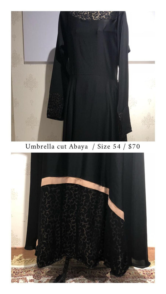 Umbrella Cut Abaya