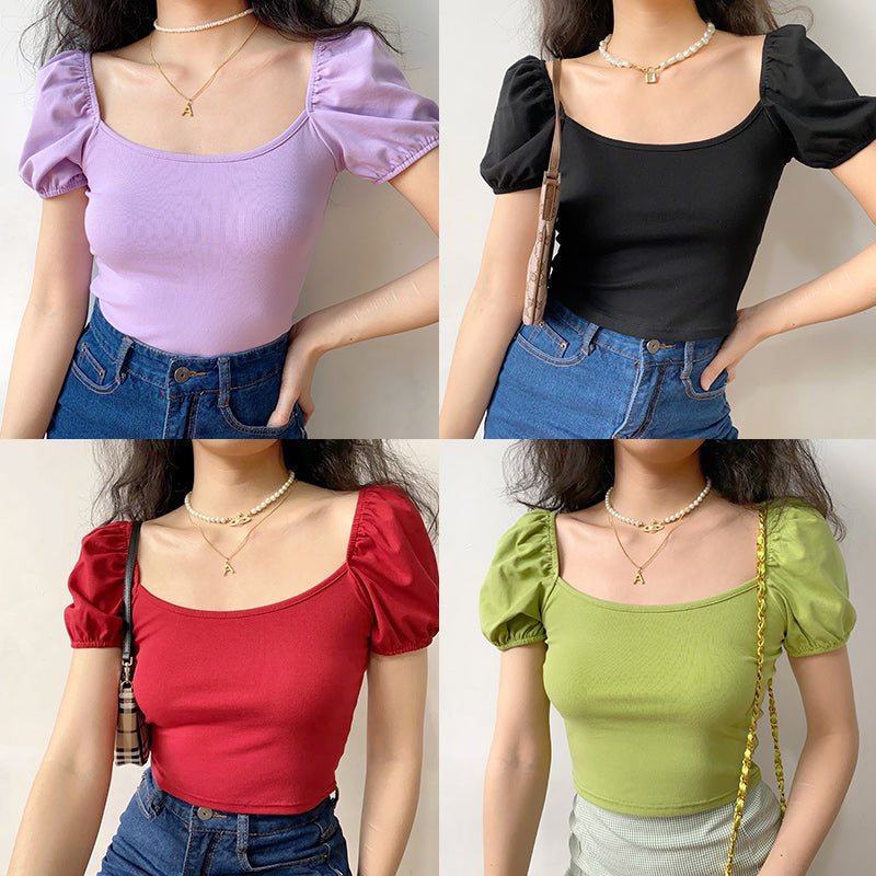 Italian Bubble Sleeve Top