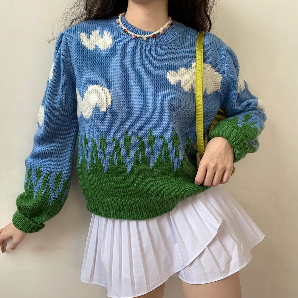 Happy Days Cloud Knit Sweater