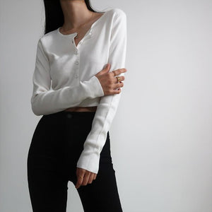 Athena Knit Top // White - Pellucid