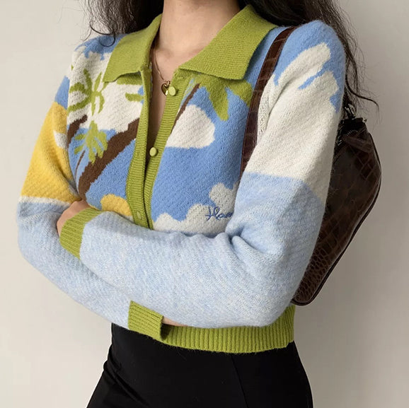 Load image into Gallery viewer, Palm Beach Knit Sweater