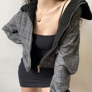 London Check Print Zip Jacket
