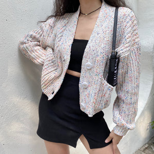Ice Cream Knit Sweater Cardigan ~ HANDMADE
