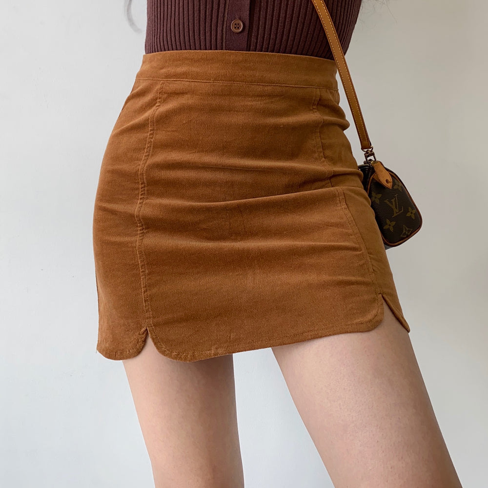 Timeless Corduroy Split Skirt ~ HANDMADE