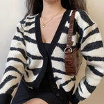 Zebra Loose Knit Cardigan