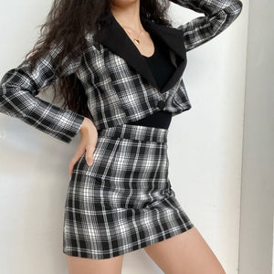 Load image into Gallery viewer, British Plaid Two Piece Set ~ HANDMADE