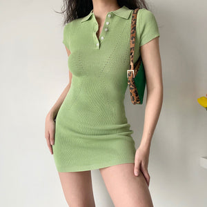 Tennis Club Knitted Polo Dress