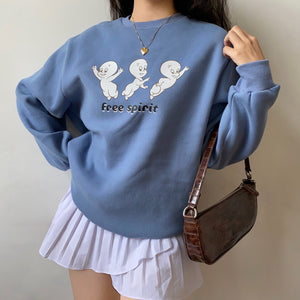 Load image into Gallery viewer, Casper Ghost Crewneck ~ HANDMADE
