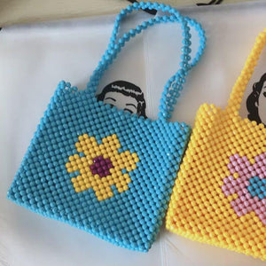 Load and play video in Gallery viewer, Flower Beaded Bag [Handmade]
