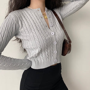Zina Twist Knit Cardigan