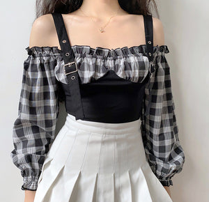 Eva 2-Piece Gingham Top