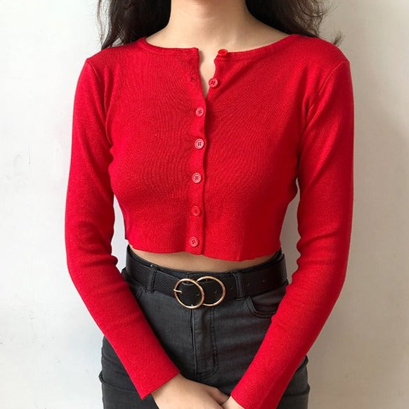 Athena Knit Top // Red - Pellucid