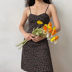 Load image into Gallery viewer, Love Before Dawn Floral Midi Dress ~ HANDMADE