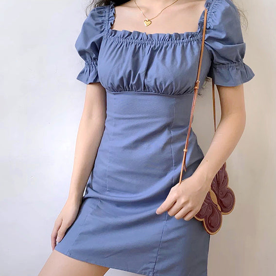 Load image into Gallery viewer, Lazuli French Puff Dress
