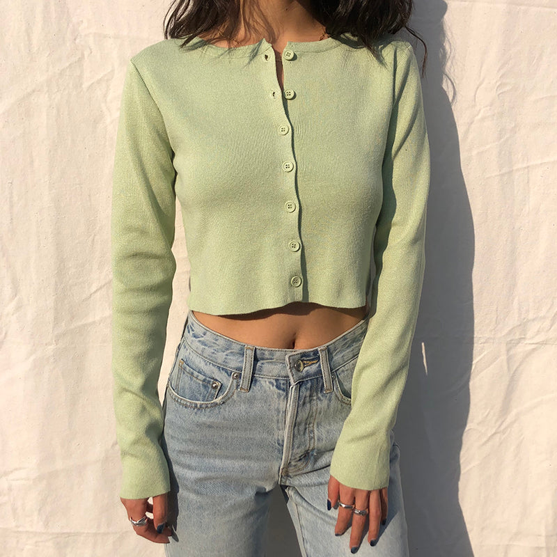 Athena Knit Top // Pastel Green - Pellucid