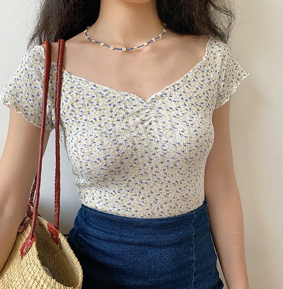 Freshly Picked Floral Stretch Top ~ HANDMADE