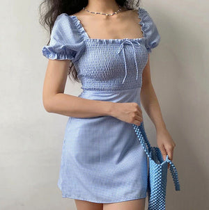 Uptown Shirred Babydoll Dress  ~ HANDMADE