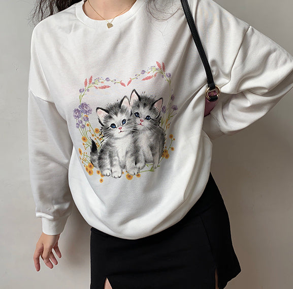 Load image into Gallery viewer, Nana's Cat Pullover Sweater
