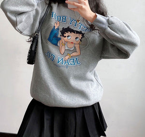 Load image into Gallery viewer, Miss Betty Crewneck ~ HANDMADE // Grey