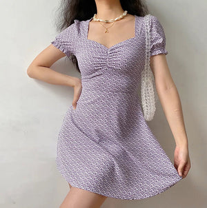 Load image into Gallery viewer, La Fleur Lavender Sweetheart Dress ~ HANDMADE