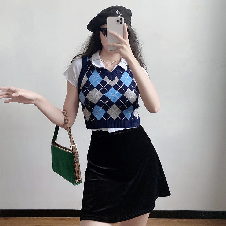 Load image into Gallery viewer, Retro Baby Argyle Knit Vest