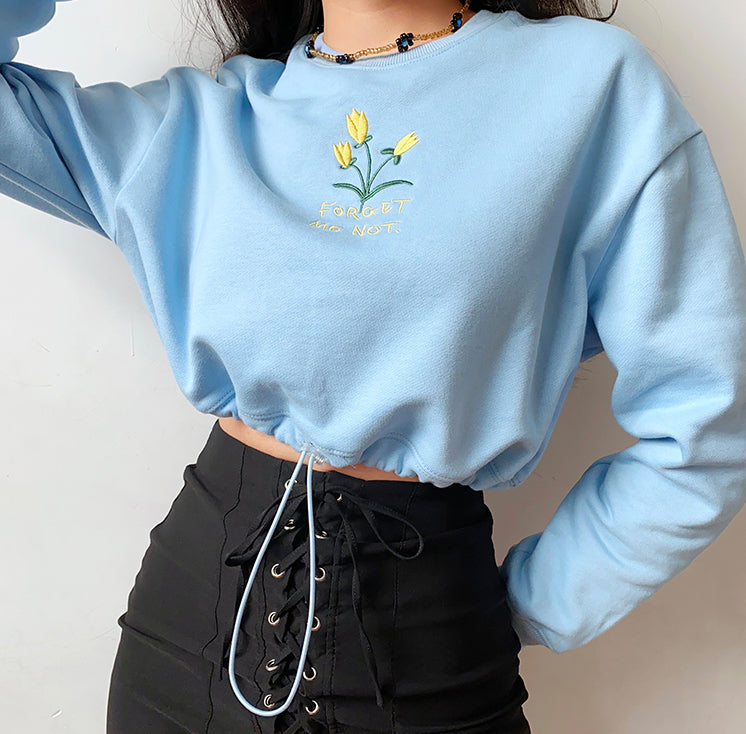 Root For Eachother Drawstring Sweatshirt ~ HANDMADE
