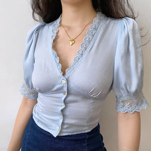 Load image into Gallery viewer, Celeste Palace Lace Blouse ~ HANDMADE