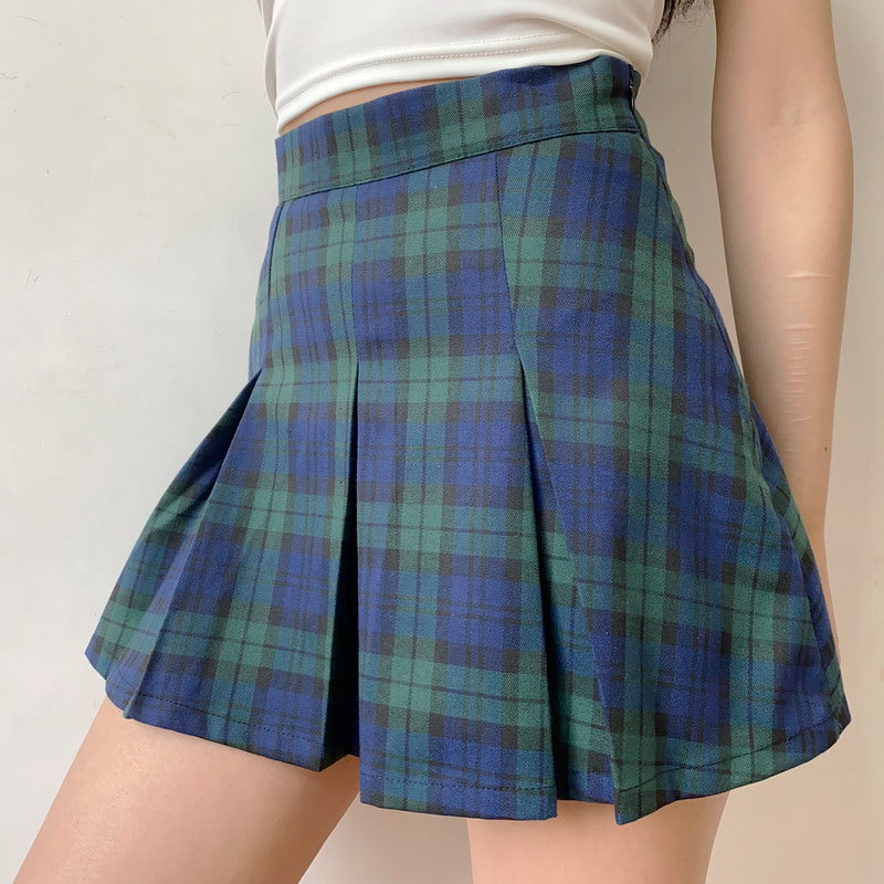 Load image into Gallery viewer, Campus School Girl Plaid Skirt ~ HANDMADE