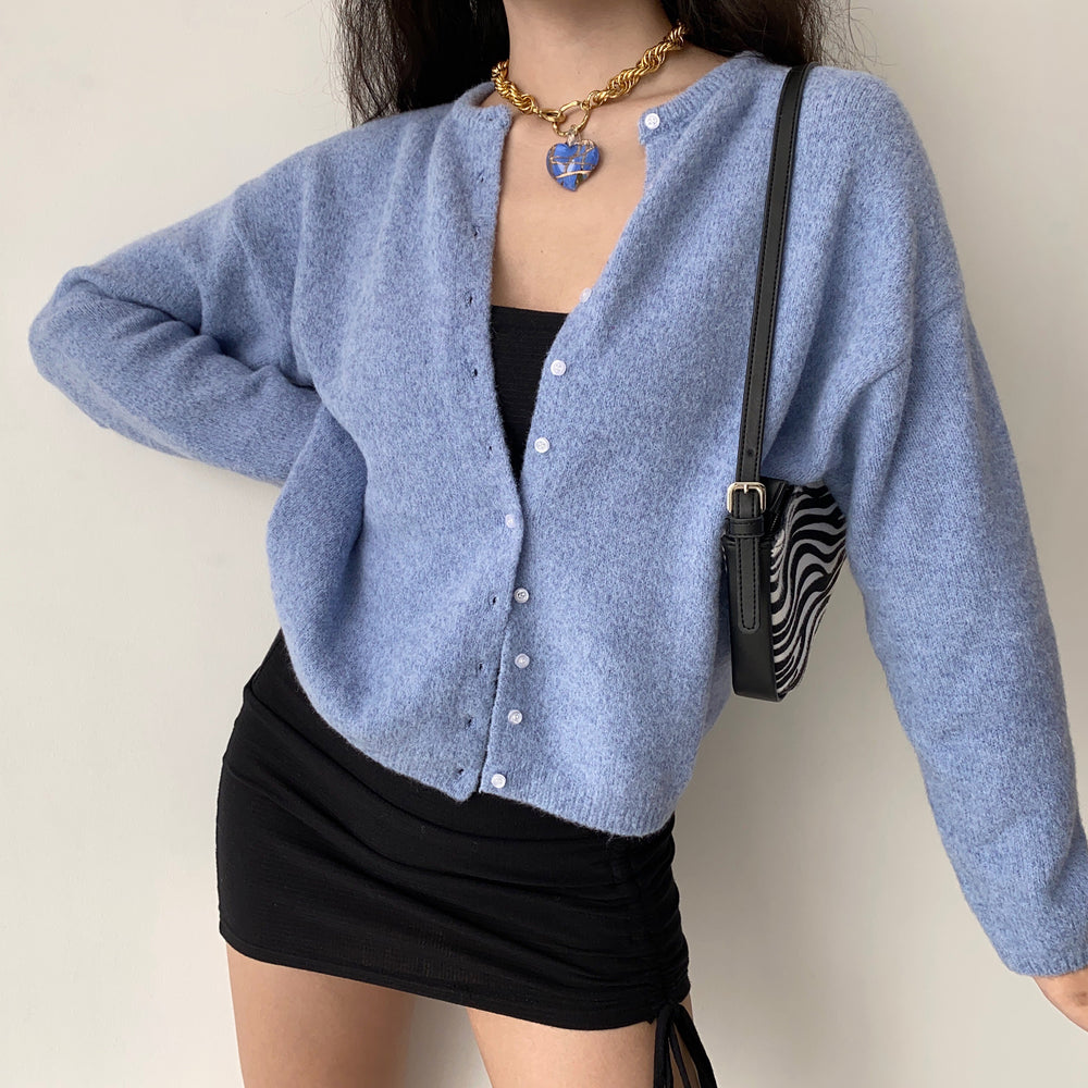 Blanket Wool Knitted Cardigan ~ HANDMADE