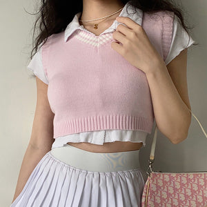Load image into Gallery viewer, Blush Pastel Knit Vest