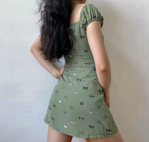 Sierra Butterfly Puff Dress ~ HANDMADE