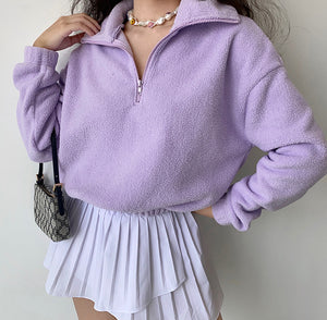 Load image into Gallery viewer, Half Zip Lambswool Pullover ~ HANDMADE