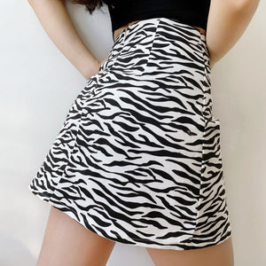 Load image into Gallery viewer, Zebra Split Skirt ~ HANDMADE