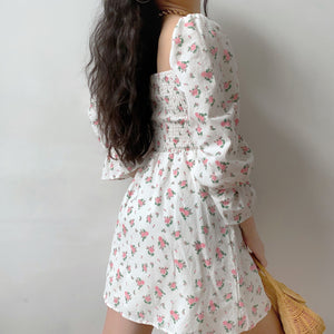 Evelyn Floral Lantern Dress ~ HANDMADE