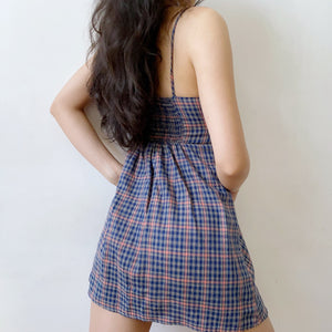 Load image into Gallery viewer, Best Intentions Plaid Mini Dress ~ HANDMADE