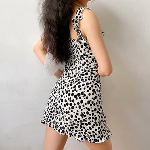 Load image into Gallery viewer, Model Backstage Polka Dress ~ HANDMADE