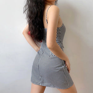 Versailles Gingham Mini Dress